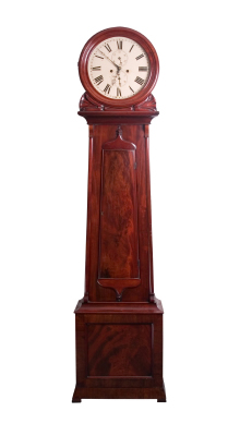long case clock mahogany