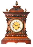 wooden case caridge clock